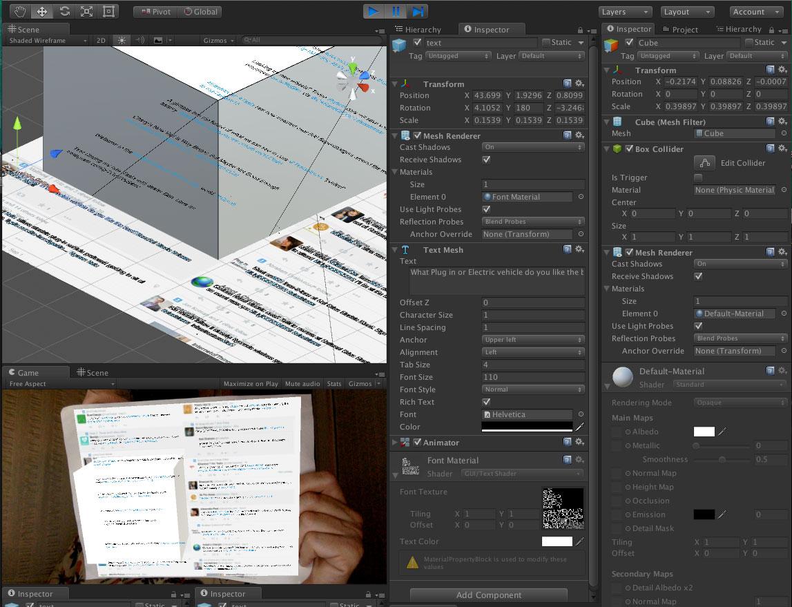 Unity - Text Meshes not disabling Mesh Renderer | Vuforia Developer